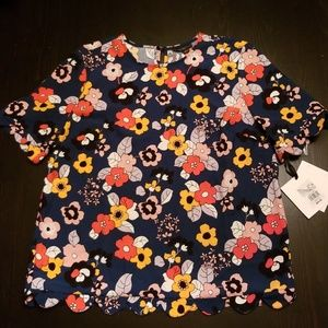 NWT Victoria Beckham for Target Floral Scallop L